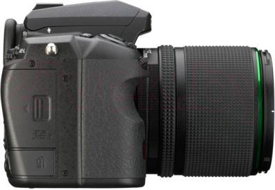 Зеркальный фотоаппарат Pentax K-3 Kit DA 18-135mm WR (черный) - вид сбоку