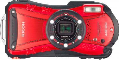 Компактный фотоаппарат Ricoh WG-20 (красный) - вид спереди