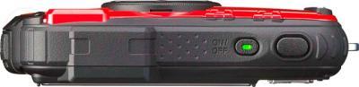 Компактный фотоаппарат Ricoh WG-20 (красный) - вид сверху