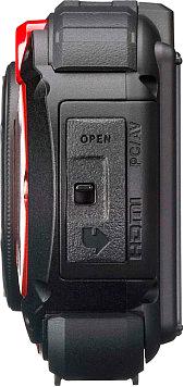 Компактный фотоаппарат Ricoh WG-20 (красный) - вид сбоку