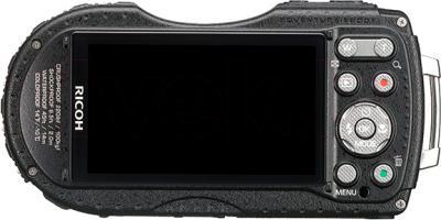 Компактный фотоаппарат Ricoh WG-4 GPS (черно-красный) - вид сзади