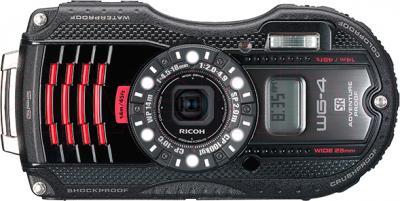 Компактный фотоаппарат Ricoh WG-4 GPS (черно-красный) - общий вид