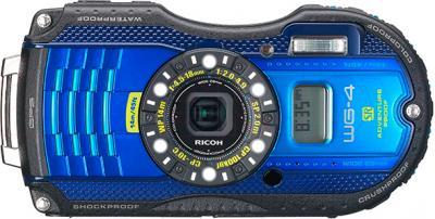 Компактный фотоаппарат Ricoh WG-4 GPS (черно-синий) - общий вид