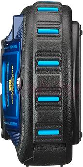 Компактный фотоаппарат Ricoh WG-4 GPS (черно-синий) - вид сбоку