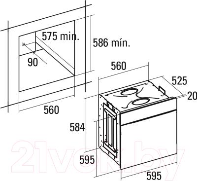 Электрический духовой шкаф Cata LC 890 D BK