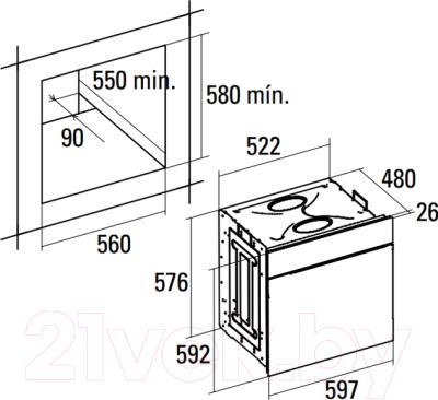 Электрический духовой шкаф Cata ME 605 TC/A