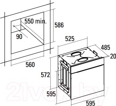 Электрический духовой шкаф Cata HGR 110 AS BK