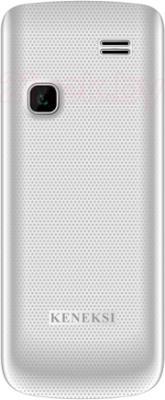 Мобильный телефон Keneksi C7 (серебристый) - вид сзади