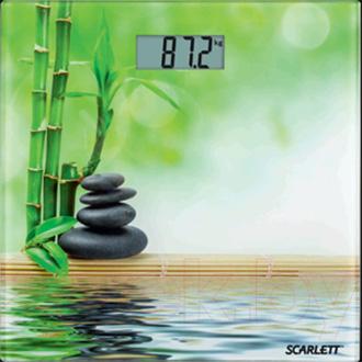 Напольные весы электронные Scarlett SC-BS33E001 (зеленый бамбук) - общий вид