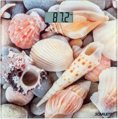 Напольные весы электронные Scarlett SC-BS33E001 (Sea Shells) - общий вид
