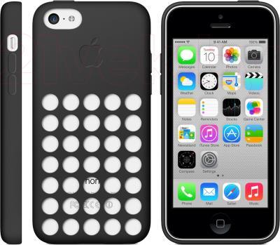 Чехол для телефона Apple Case for iPhone 5c MF040ZM/A (черный) - общий вид