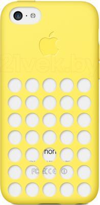 Чехол для телефона Apple Case for iPhone 5c MF038ZM/A (желтый) - общий вид