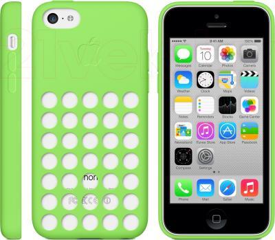 Чехол для телефона Apple Case for iPhone 5c MF037ZM/A (зеленый) - общий вид