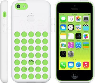 Чехол для телефона Apple Case for iPhone 5c MF039ZM/A (белый) - общий вид