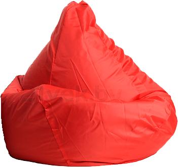 Бескаркасное кресло Baggy Груша Макси (красное) - общий вид