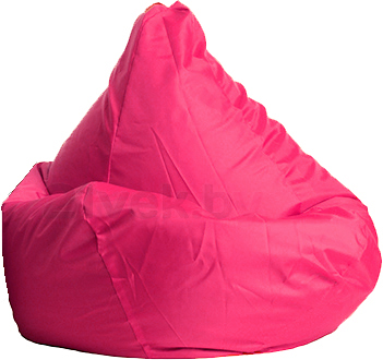 Бескаркасное кресло Baggy Груша Медиум (розовое) - общий вид