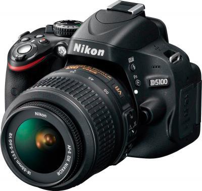 Зеркальный фотоаппарат Nikon D5100 Double Kit 18-55mm VR + 35mm f/1.8G - общий вид