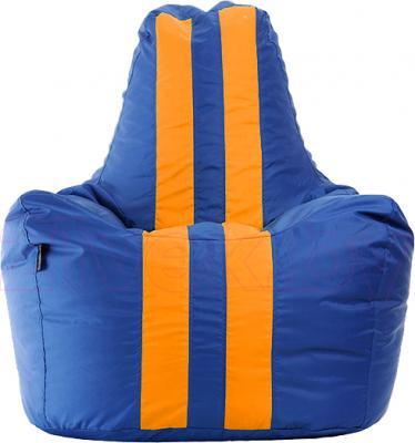 Бескаркасное кресло Baggy Спортинг (сине-оранжевое флюорисцентное) - общий вид