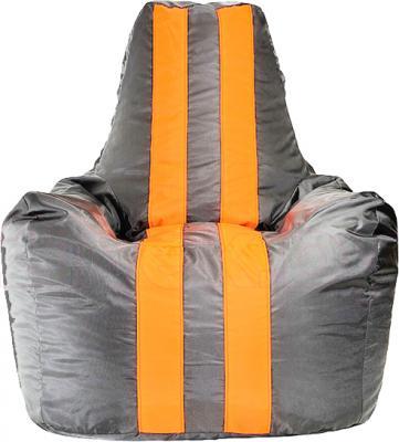 Бескаркасное кресло Baggy Спортинг (серо-оранжевое флюорисцентное) - общий вид