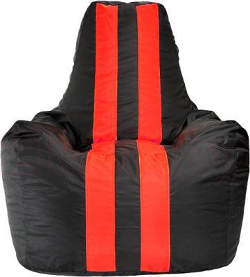 Бескаркасное кресло Baggy Спортинг (красно-черное) - общий вид