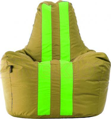 Бескаркасное кресло Baggy Спортинг (бежево-салатовое) - общий вид
