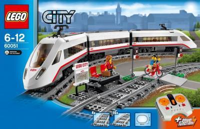 Конструктор Lego City Скоростной пассажирский поезд (60051) - упаковка