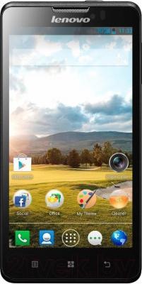 Смартфон Lenovo P780 Dual (Black) - общий вид