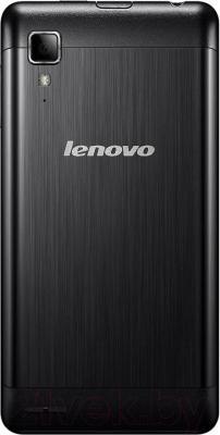Смартфон Lenovo P780 Dual (Black) - вид сзади