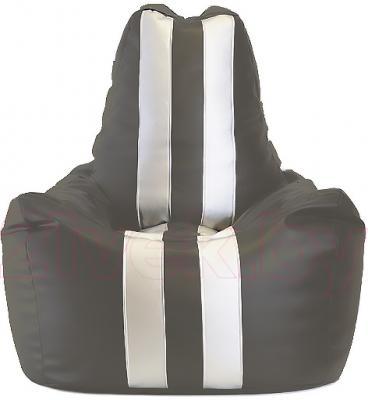 Бескаркасное кресло Baggy Спортинг (бело-серое) - общий вид