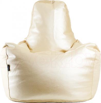 Бескаркасное кресло Baggy Спортинг (белое) - общий вид