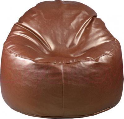 Бескаркасное кресло Baggy Персик (темно-коричневое) - общий вид