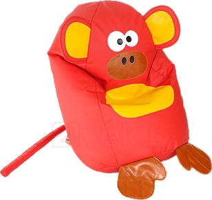 Бескаркасное кресло Baggy Обезьянка (красное) - общий вид