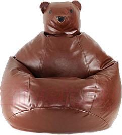 Бескаркасное кресло Baggy Мишка (коричневое) - общий вид