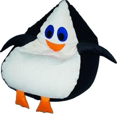 Бескаркасное кресло Baggy Пингвин (черно-белое) - общий вид