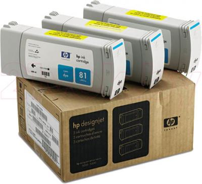 Комплект картриджей HP 81 (C5067A) - общий вид