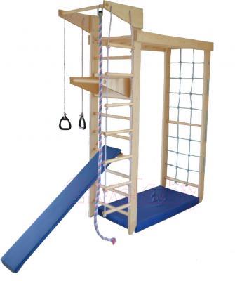 Детский спортивный комплекс Геркулес 2 (Натуральное дерево) - общий вид