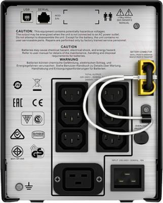 ИБП APC Smart-UPS C 2000VA LCD 230V (SMC2000I) - вид сзади