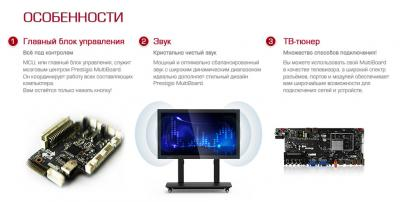 Интерактивная панель Prestigio PMB554H558 (White) - особенности