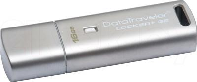 Usb flash накопитель Kingston DataTraveler Locker+ G2 16Gb (DTLPG2/16GB) - общий вид