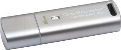 Usb flash накопитель Kingston DataTraveler Locker+ G2 8Gb (DTLPG2/8GB) - общий вид