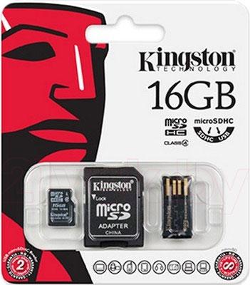 Карта памяти Kingston microSDHC (class 4) 8 Gb (MBLY4G2/16GB) - общий вид