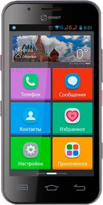 Смартфон Senseit L301 (черный) - общий вид