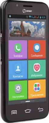 Смартфон Senseit L301 (черный) - вполоборота