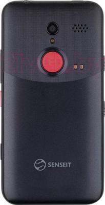 Смартфон Senseit L301 (черный) - вид сзади