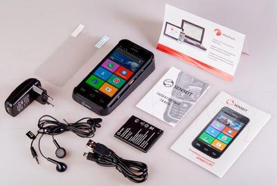 Смартфон Senseit L301 (черный) - весь комплект