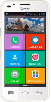 Смартфон Senseit L301 (белый) - общий вид