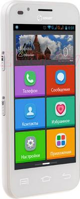 Смартфон Senseit L301 (белый) - вполоборота