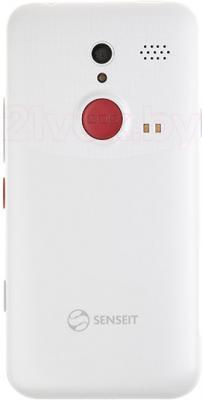 Смартфон Senseit L301 (белый) - вид сзади