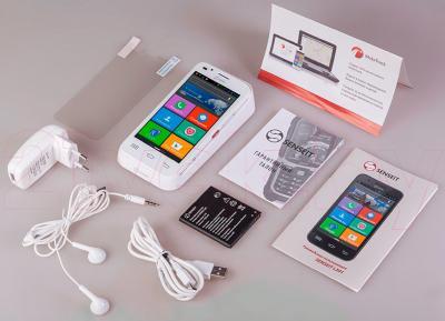 Смартфон Senseit L301 (белый) - весь комплект