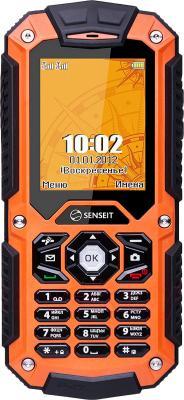Мобильный телефон Senseit P10 (оранжевый) - общий вид